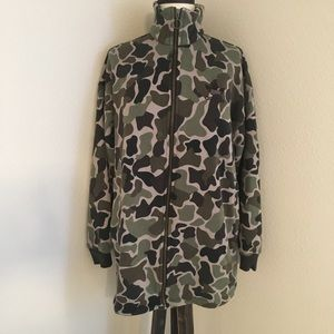 Women's NEW Adidas Camo Zip Front Sweatshirt Small